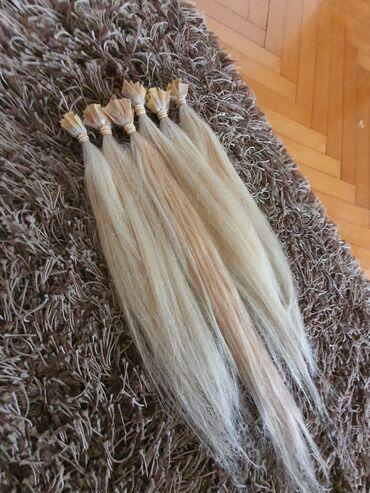 120 pramenova prirodna kosa Na keratinu