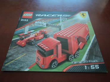 Lego 8153 Racers Ferrari F1 Truck 1:55 Used 100% complete with extra σε North & East Suburbs
