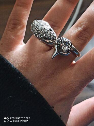 Кольцо из нержавеющей стали, очень красивое кольцо, змея с яблоком