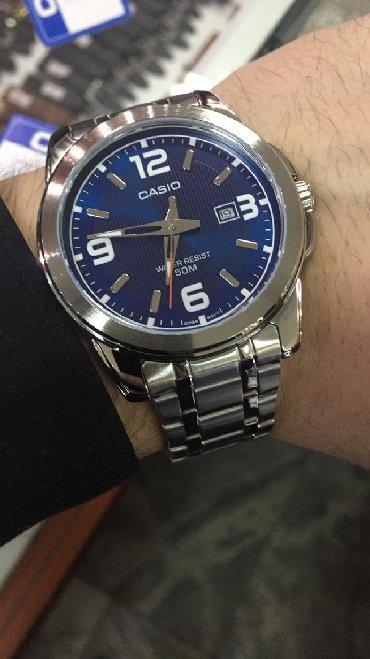 Синие Мужские Наручные часы Casio