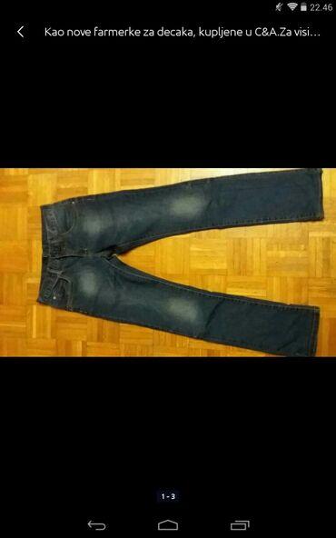 Muška odeća | Obrenovac: Kao nove farmerke za decaka kupljene u C&A za visinu od 152cm