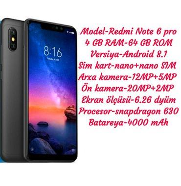 Xiaomi redmi note 3 pro 2 16gb silver - Azerbejdžan: Novo Xiaomi Redmi Note 6 Pro 64 GB crno