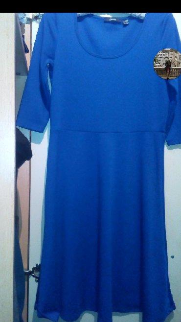 """Esmara-skinny-struk-cm - Srbija: Plava haljina,""""ESMARA"""",vel.36\38,sa 3\4 rukavima,duzine ispod kolena"""