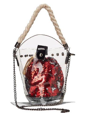 сумка-жен в Кыргызстан: Сумка новая вечерняя прозрачная а внутри мешочек с пайетками. Размер 2