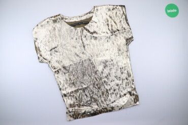 Жіноча блискуча блуза в анімалістичний принт Barbara Bui   Довжина: 73