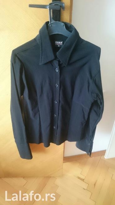 Crna košulja, turska, ima elastina,divan materijal, broj 36, nikakvih - Pozarevac