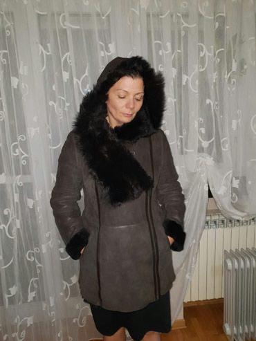 Original monton bunda, braon boje, velicina 44 - Crvenka