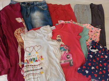 Lanene pantalone - Srbija: 10 stvari letnji paket vel.10-12god.Paket za 800din, prelepe pamucne