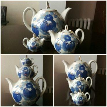 совместные покупки в Азербайджан: Набор из трех чайников. фарфор Россия. новый. высота большого чайника-