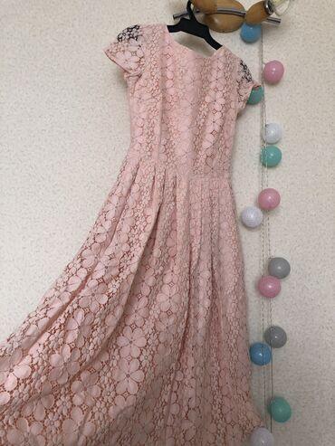 Кружевное платье ниже колена, Турецкого производства ) размер S