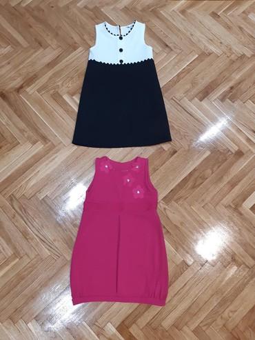 Pink kosuljoca - Srbija: Dve haljinice velicina 8.Crno-bela obucena samo dva puta.U dobrom su