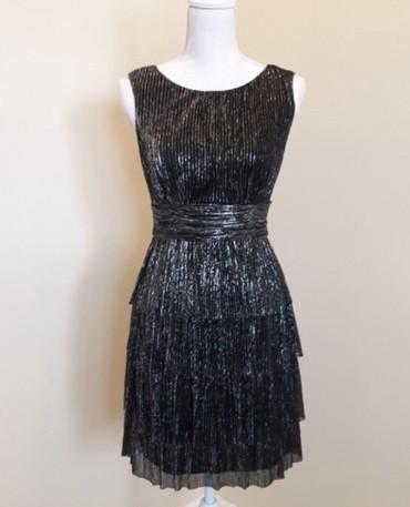 Connected Apparel серебро/металлическое платье. Новое. Размер S/M