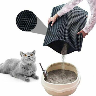 Коврик для лотка вашего кота!После похода в туалет ваш кот