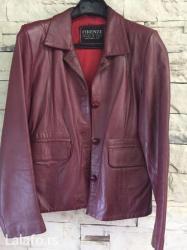 SniŽeno!!!!!! Crveno/bordo kožna jakna, veličina l. Nošena par - Belgrade