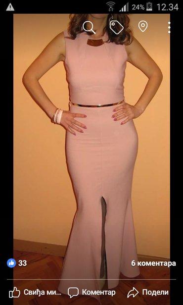 Svecana, duga haljina, nezno roze boje. Velicina 36-38 (rastegljiv - Nis