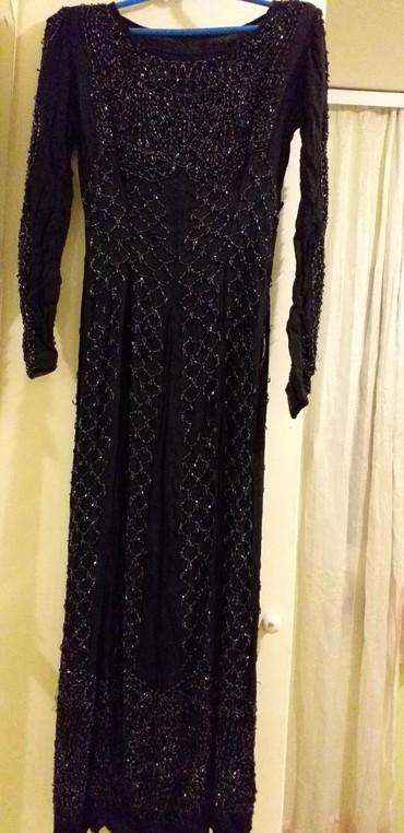 Prodajem večernju haljinu sa sljokicama duga sa velikim slic korišćeno - Borca - slika 2