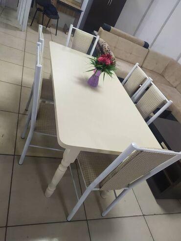 Стол 160*80 комплект и 6 стульев