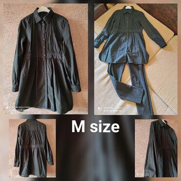 женские вельветовые юбки в Азербайджан: Köynek. Женская оригинальная рубашка, туника.Черный цвет. М размер