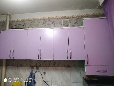 шкаф кухню в Кыргызстан: Верхние шкафы+пенал для кухни,250см ширина