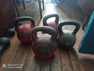 Спорт и отдых - Каракол: Продаю советские гири на 24 кг и 32 кг. Обьявление не мое, звонить по