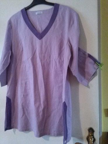 Tunika za krupnije dame od lana,prelepo stoji,nije nosena - Sombor - slika 2