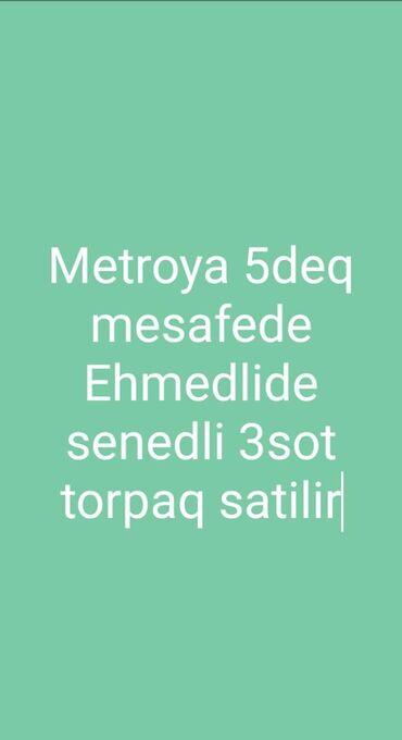 ehmedlide torpaq satilir - Azərbaycan: 3 sot, Tikinti, Mülkiyyətçi, Bələdiyyə