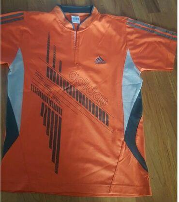 Velic-da - Srbija: Adidas original sportska majica narandzasta, za sport ili trening