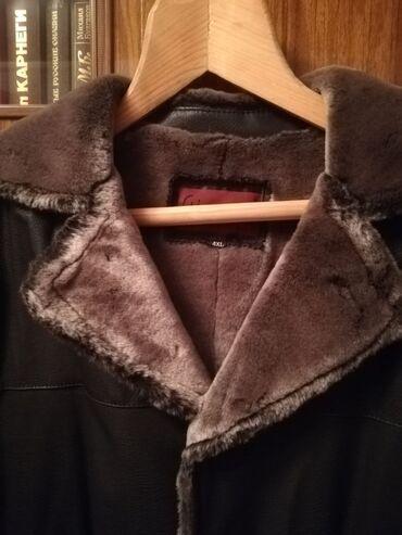Куртка мужская новая, кожзам утепленная размер 4 XL на 56-58 3000