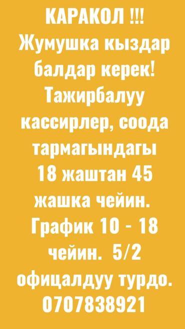 протеин для роста в Кыргызстан: Кассир. С опытом. 5/2