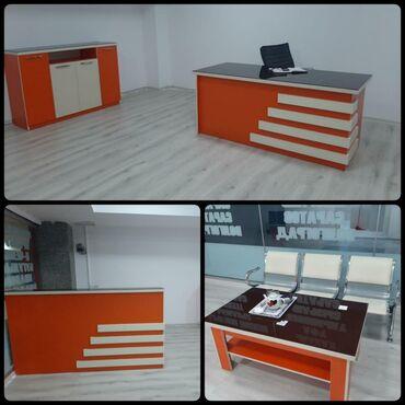 Ofis mebeli satilir. Qiymeti 900 azn.Istifade olunmayib yenidir. Deste