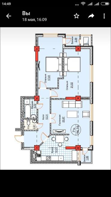Продается квартира: 3 комнаты, 96 кв. м., Бишкек в Бишкек