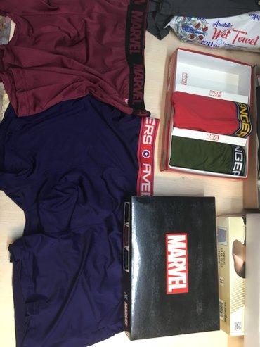 Трусы корея боксеры ,Marvel оригинал в коробке 3 штуки в Лебединовка
