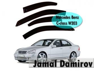 Bakı şəhərində Mercedes benz w203 c-class üçün şüşəli vetrovik.