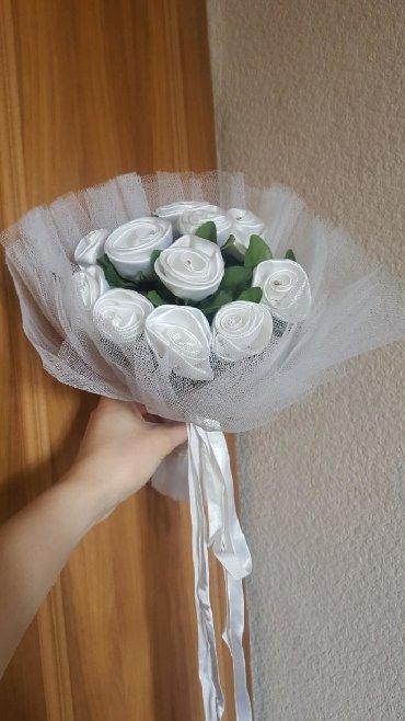 с искусственным в Кыргызстан: Букет невесты искусственный белый