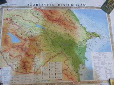 Bakı şəhərində Azerbaycanin xeritesi(1metr olar uzunu.divar ucun)