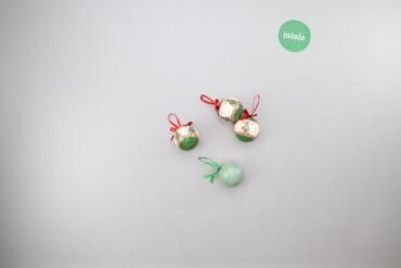 Дом и сад - Украина: Набір ялинкових новорічних кульок з декором (6 шт.)   Діаметр: 8 см  С