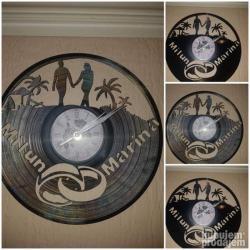 Bunda od pravog krzna - Varvarin: Sat od gramofonske ploče(romantični sat)Neobicni i unikatni satovi od