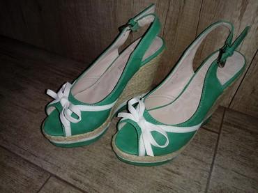 Ženska obuća | Sremska Kamenica: Sandale na platformu, broj 35, nosene samo jednom, bez ostecenja