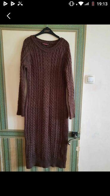вязаное платье свободного кроя в Кыргызстан: Вязаное платье, в отличном состоянии. Без дефектов. Очень красиво