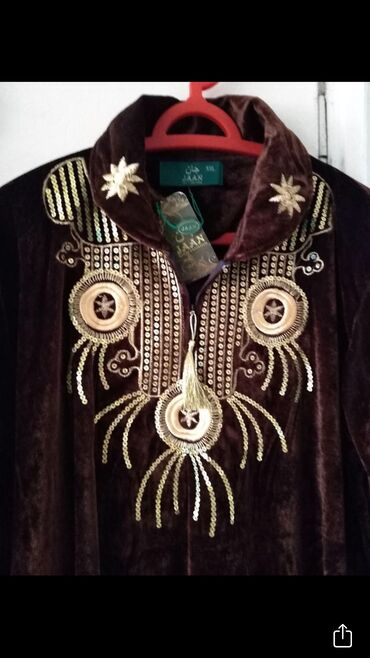 Платья - Бишкек: Платье бархатное новое с вышивкой золотом, очень качественное и