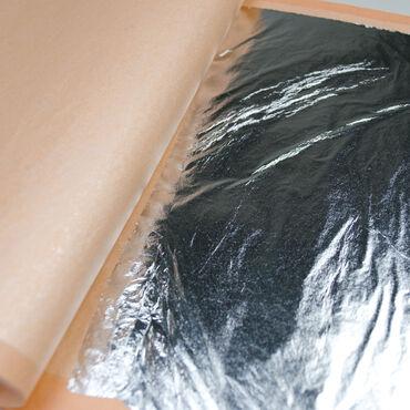 Листовая поталь в книжках. СереброРазмер: 16х16 см, 25 листов в