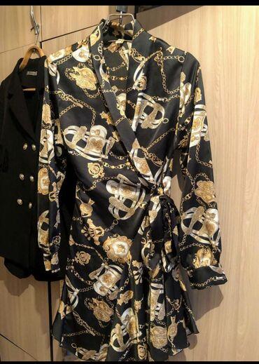 Состояние нового. Атлас платье на запах. Только продажа!!!!!