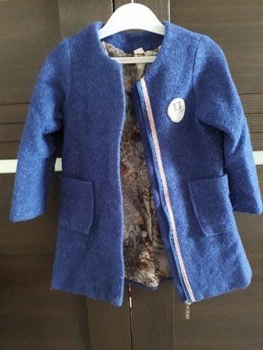 Детское пальто на осень-весну. На 4-5лет.Цвет электро в Бишкек