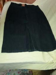 синяя юбка в Кыргызстан: Очень удобная синяя юбка, 48-50 р, ткань стрейч в мелкий рубчик