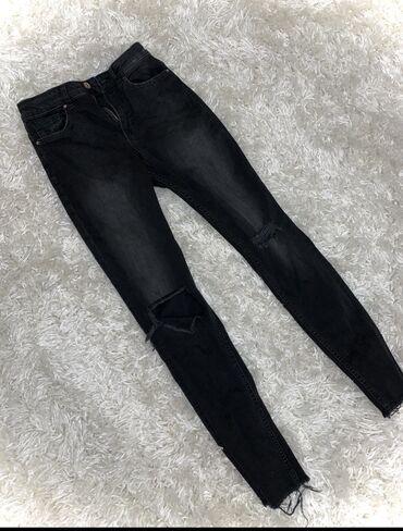 shtany hm в Кыргызстан: Чёрные рваные джинсы с HM
