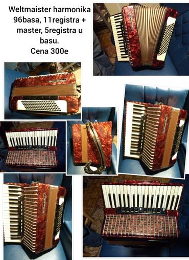 Harmonike | Srbija: Weltmaister harmonika 96basa, Cena 300e