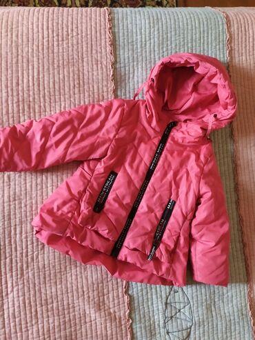 Демисезонная куртка на девочку 2- 3 года.флисовый подклад
