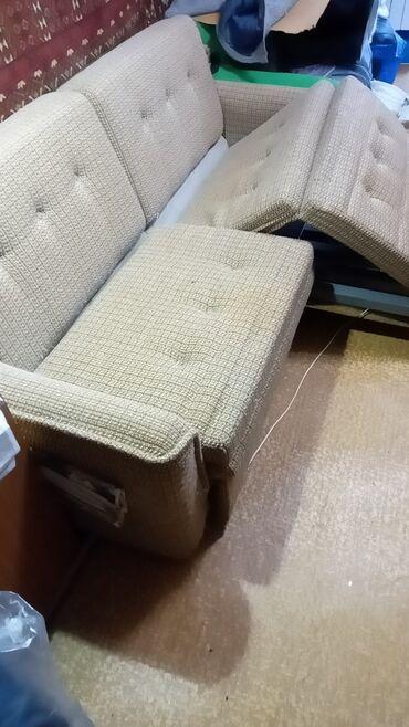 Продам гарнитур мягкой мебели: разкладной диван-кровать (металлическая