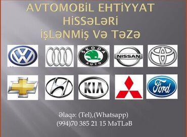 volkswagen edition в Азербайджан: Yeni açılmış avanqard avto servi̇sdə dəmirçi rəngsaz mühərrikçi çilin