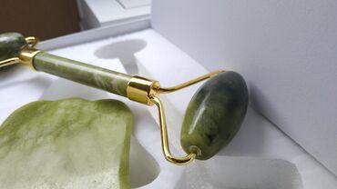бижутерия камень сваровский в Кыргызстан: Роллер + скребок жадеит, жад, нефрит. Роллер со скребком. Роллер для